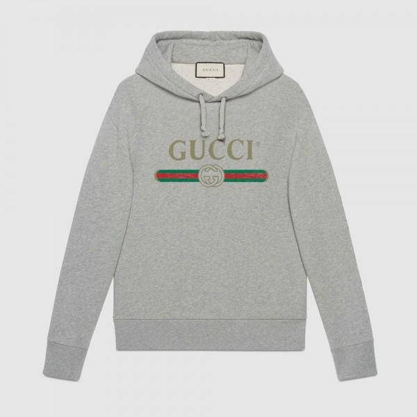Gucci Dragon Sweatshirt Gri Erkek