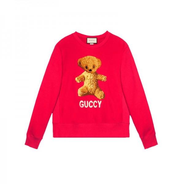 Gucci Teddy Sweatshirt Kırmızı Kadın