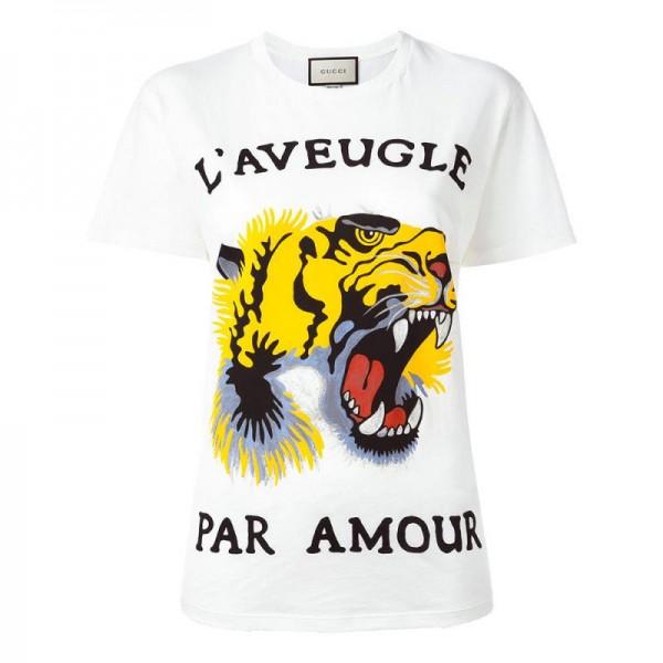 Gucci Tiger Tişört Beyaz Kadın