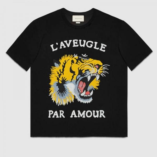 Gucci Tiger Tişört Siyah Kadın