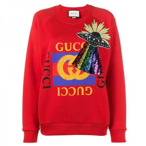 Gucci Ufo Sweatshirt Kırmızı Kadın