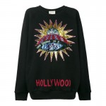 Gucci Ufo Sweatshirt Siyah Kadın