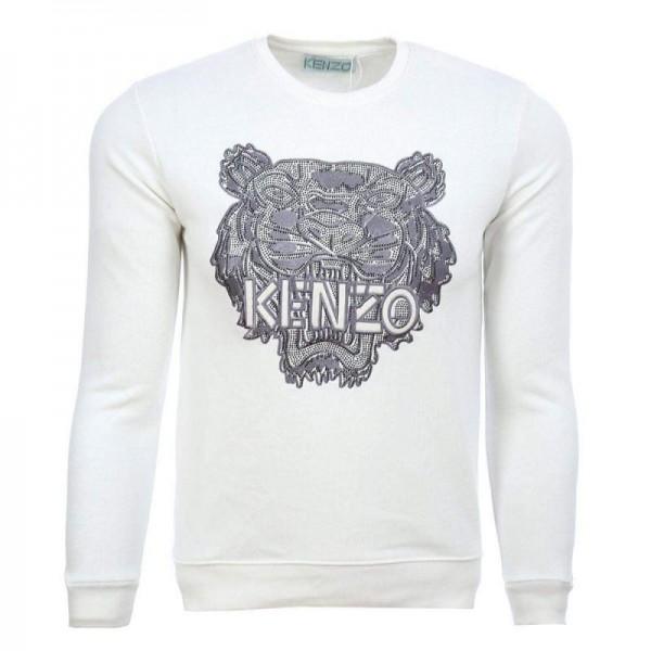 Kenzo Logo Sweatshirt Erkek Beyaz
