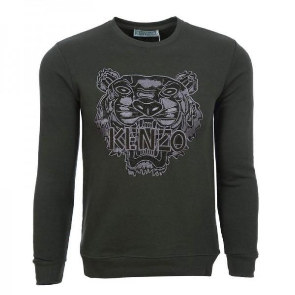Kenzo Logo Sweatshirt Erkek Gri