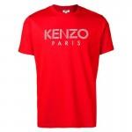 Kenzo Logo Tişört Erkek Kırmızı