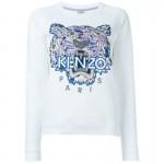 Kenzo Tiger Sweatshirt Beyaz Kadın