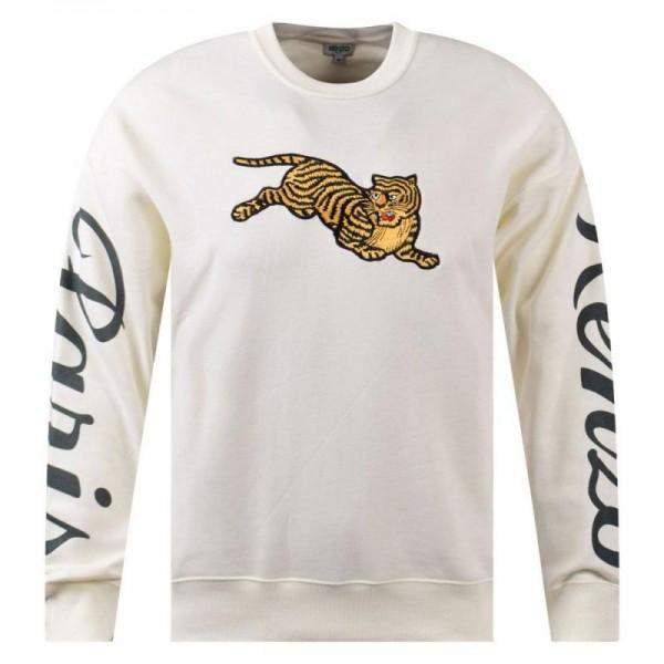 Kenzo Tiger Sweatshirt Erkek Beyaz