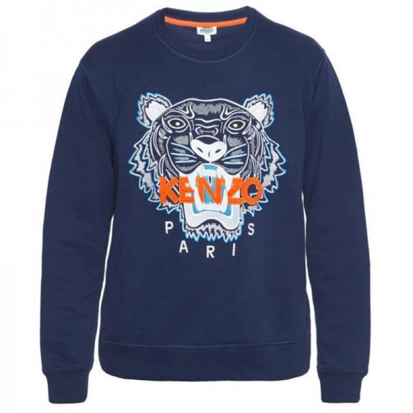Kenzo Tiger Sweatshirt Mavi Erkek