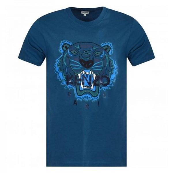 Kenzo Tiger Tişört Erkek Mavi