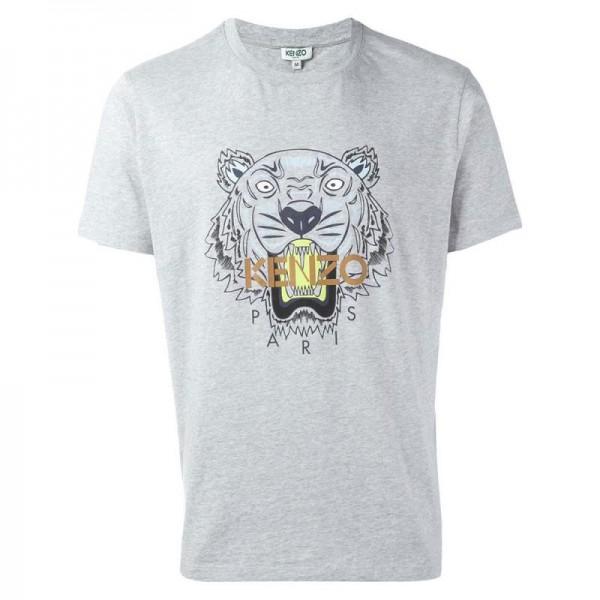 Kenzo Tiger Tişört Gri Erkek
