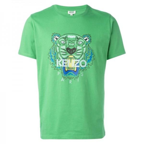 Kenzo Tiger Tişört Yeşil Erkek