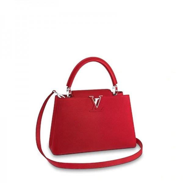 Louis Vuitton Capucines Çanta Kadın Kırmızı