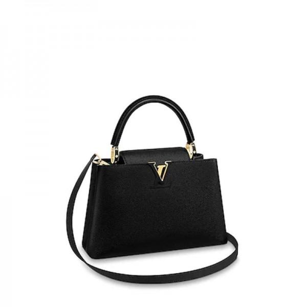 Louis Vuitton Capucines Çanta Kadın Siyah