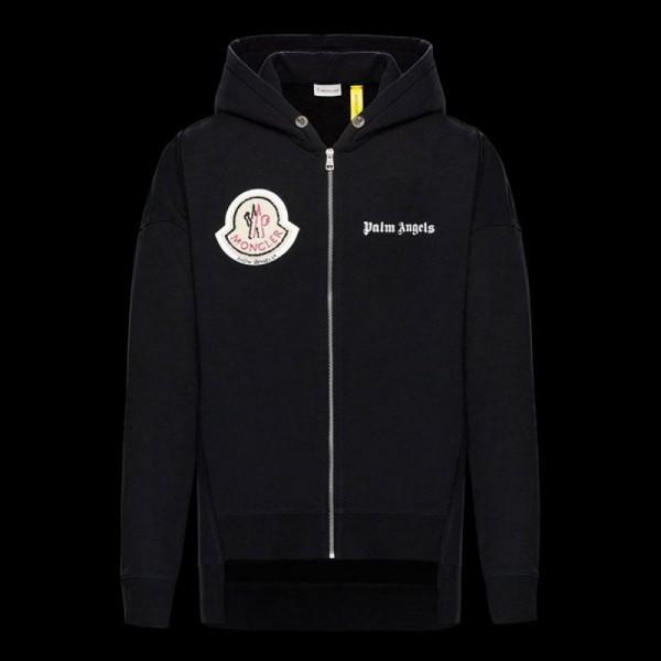 Moncler 8 Palm Angels Sweatshirt Erkek Siyah
