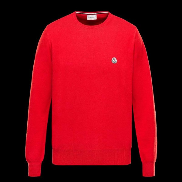 Moncler Crewneck Sweatshirt Kırmızı Erkek