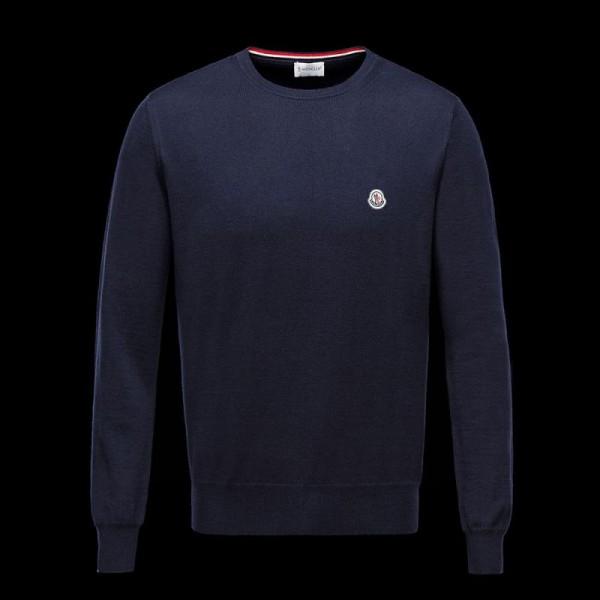 Moncler Crewneck Sweatshirt Mavi Erkek