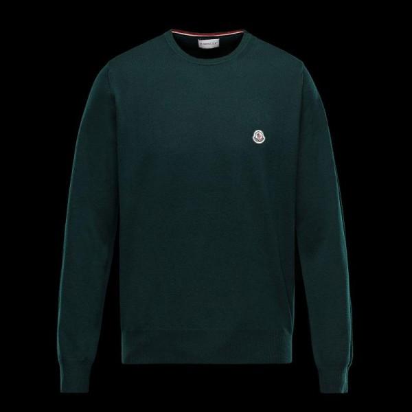 Moncler Crewneck Sweatshirt Yeşil Erkek