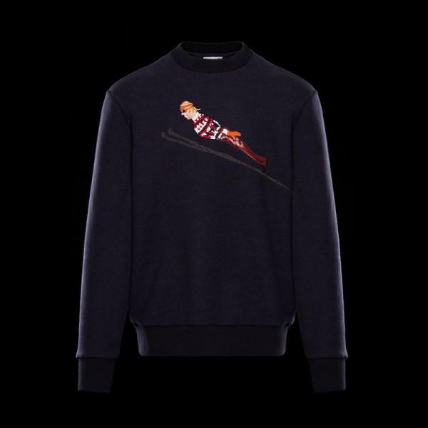 Moncler Fabric Sweatshirt Lacivert Erkek