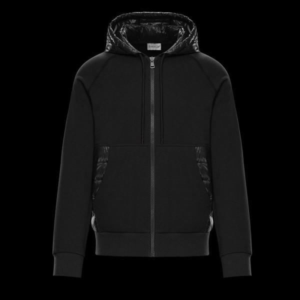 Moncler Lined Sweatshirt Siyah Erkek