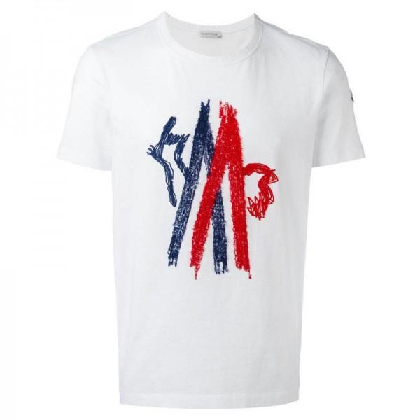 Moncler Graphic Tişört Beyaz Erkek