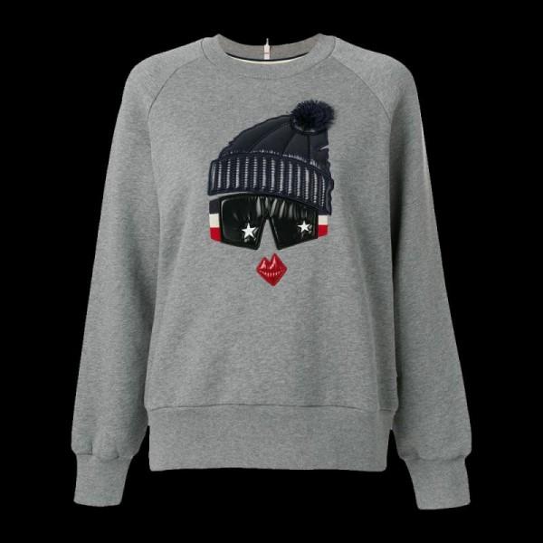 Moncler Grenoble Sweatshirt Gri Kadın