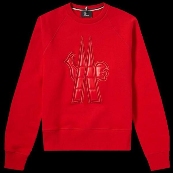 Moncler Grenoble Sweatshirt Kırmızı Erkek