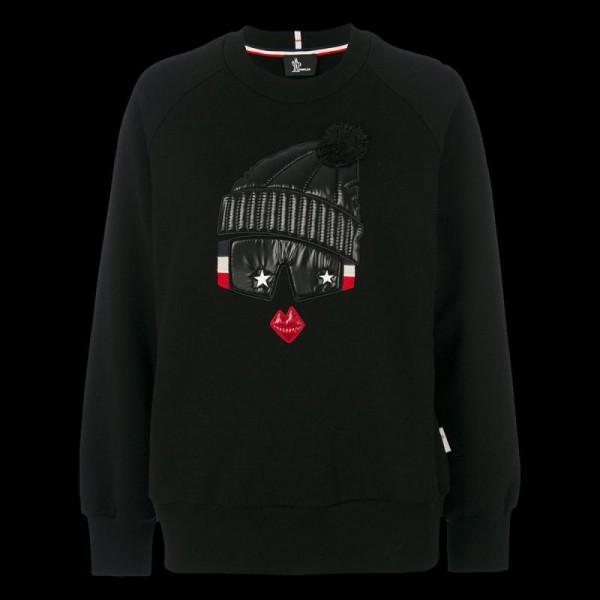 Moncler Grenoble Sweatshirt Siyah Kadın