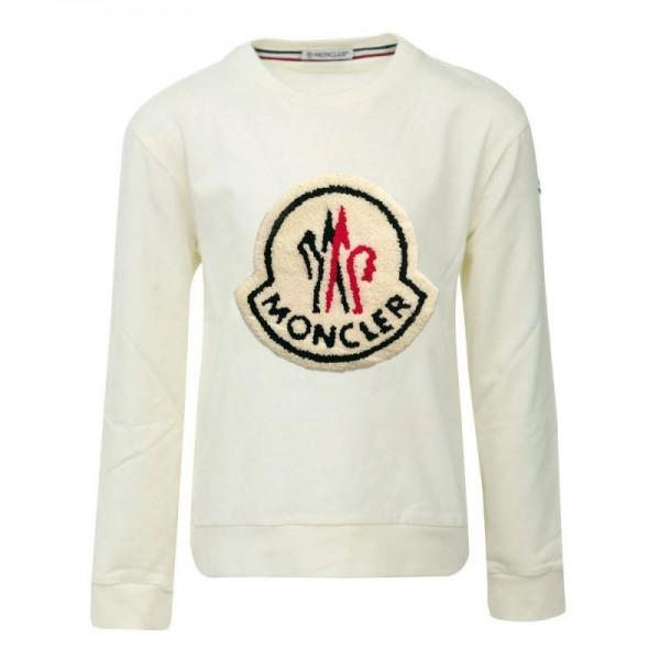 Moncler Logo Sweatshirt Erkek Beyaz