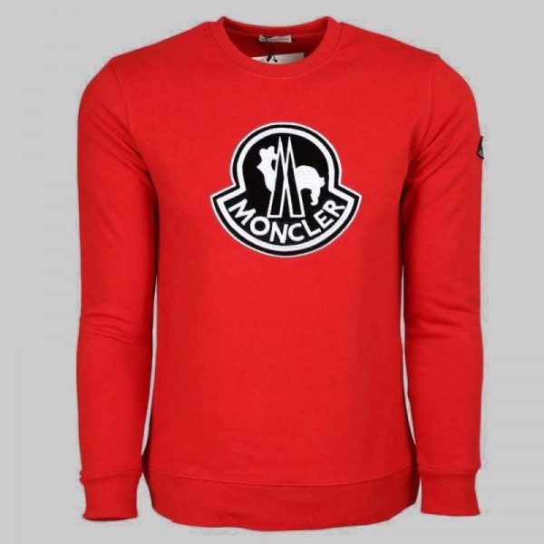 Moncler Logo Sweatshirt Erkek Kırmızı