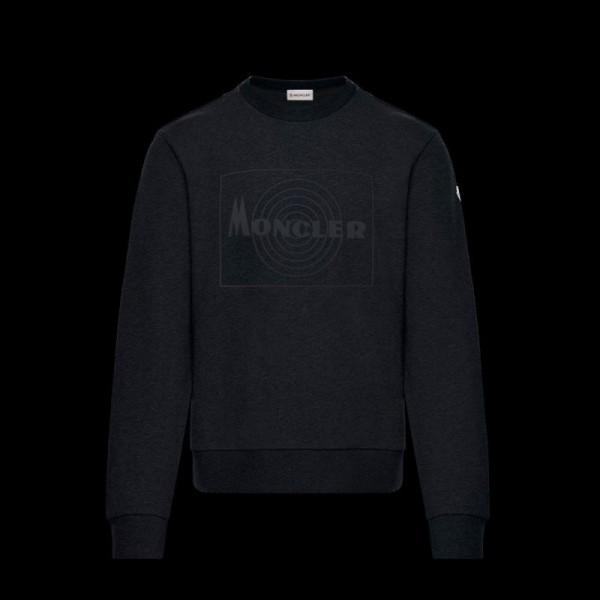 Moncler Logo Sweatshirt Erkek Siyah