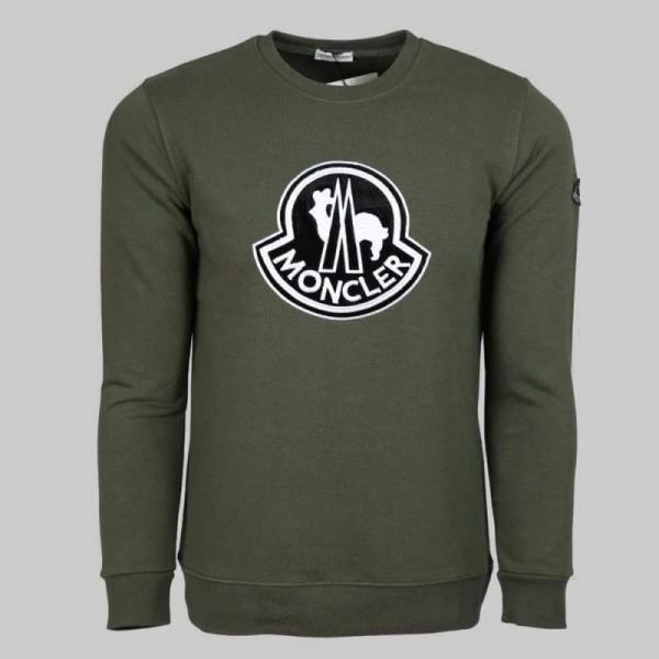 Moncler Logo Sweatshirt Erkek Yeşil