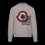 Moncler Logo Sweatshirt Gri Erkek