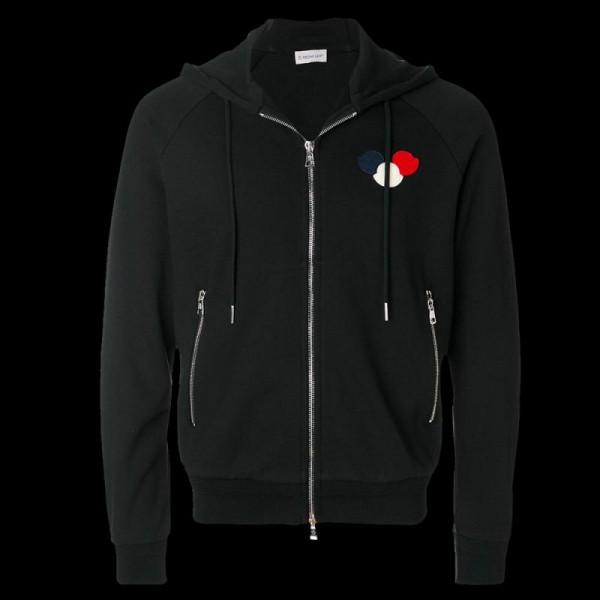 Moncler Logo Sweatshirt Siyah Erkek