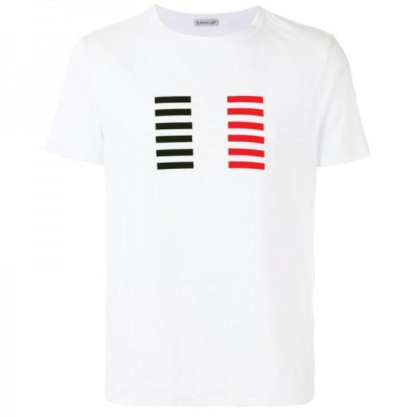 Moncler Logo Tişört Beyaz Erkek