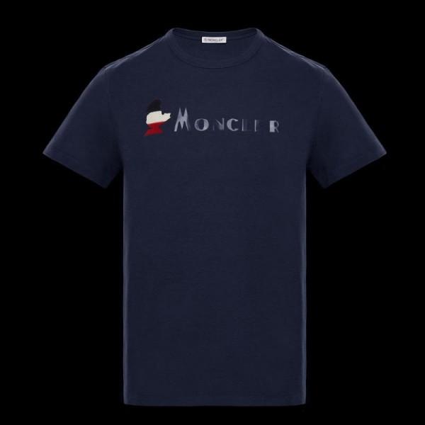 Moncler Logo Tişört Erkek Lacivert