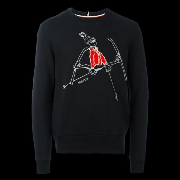 Moncler Mascot Sweatshirt Siyah Erkek