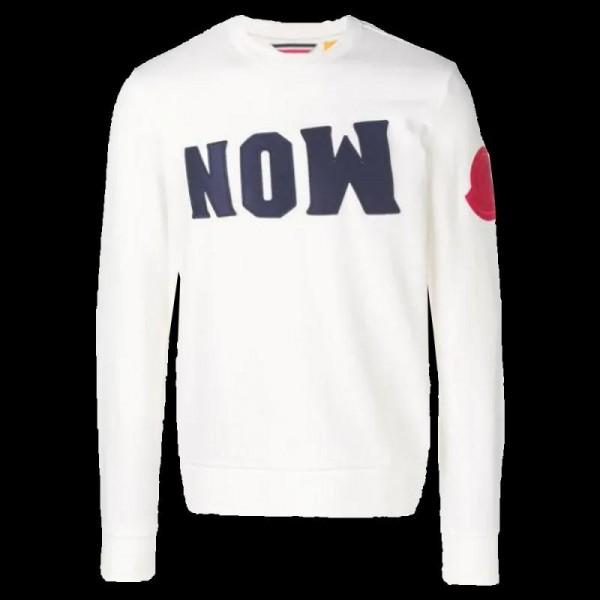 Moncler Now Sweatshirt Erkek Beyaz