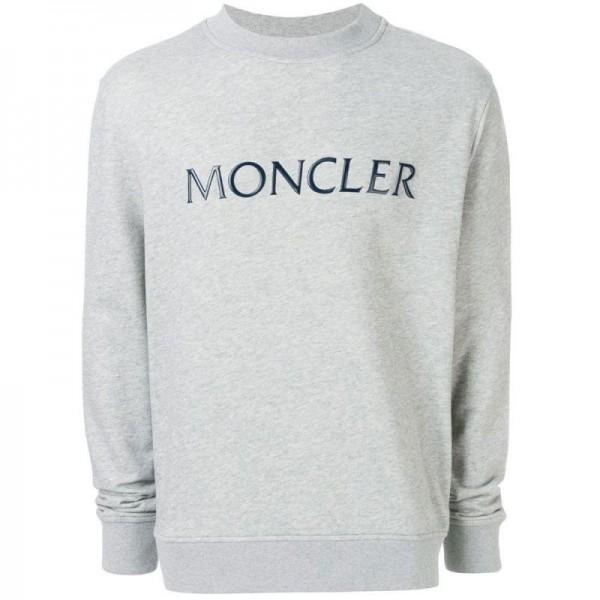 Moncler Plaque Sweatshirt Gri Erkek