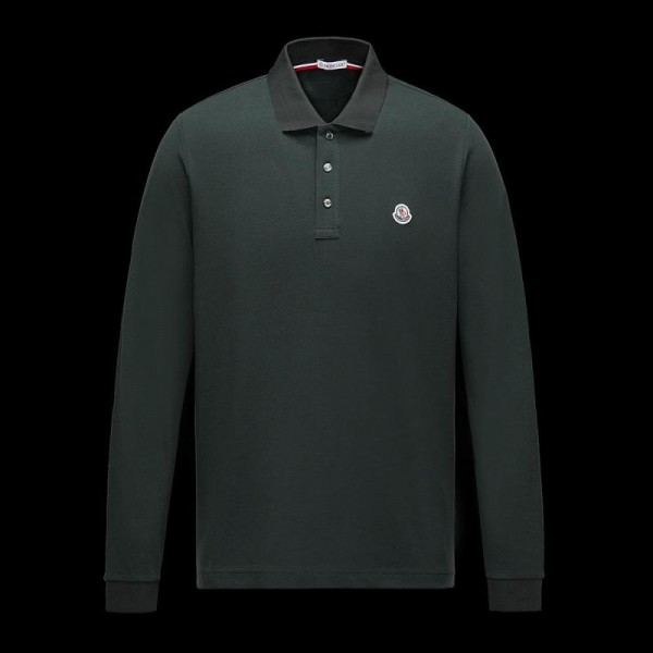 Moncler Polo Sweatshirt Yeşil Erkek