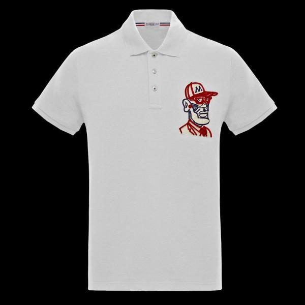 Moncler Mascot Tişört Erkek Beyaz