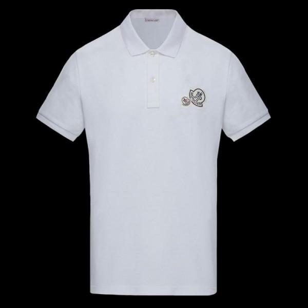 Moncler Polo Tişört Erkek Beyaz