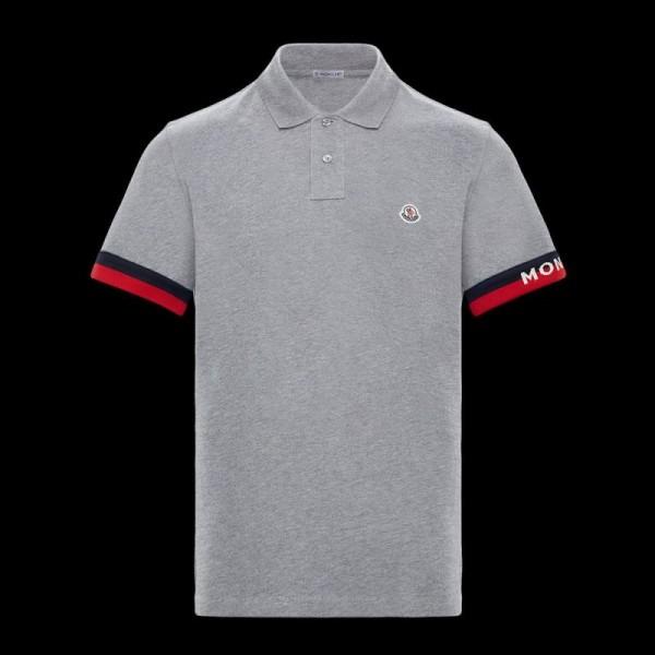 Moncler Polo Tişört Erkek Gri