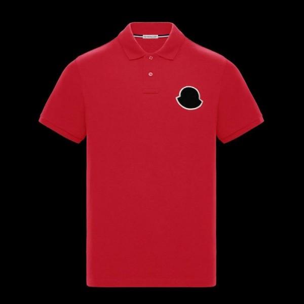 Moncler Polo Tişört Erkek Kırmızı