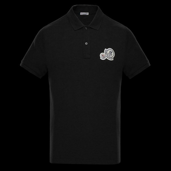Moncler Polo Tişört Erkek Siyah