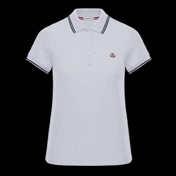 Moncler Polo Tişört Kadın Beyaz
