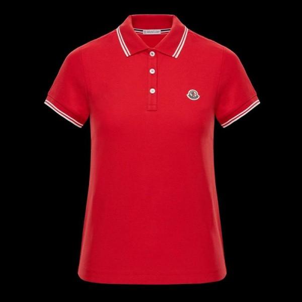 Moncler Polo Tişört Kadın Kırmızı