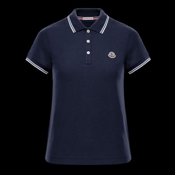 Moncler Polo Tişört Kadın Lacivert