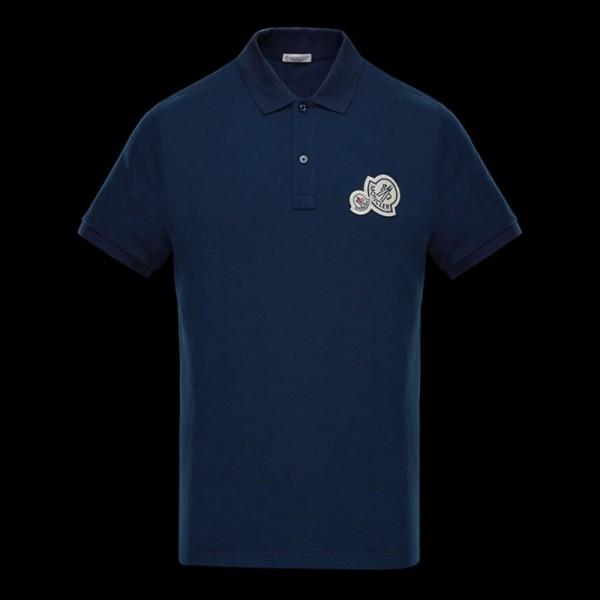 Moncler Polo Tişört Mavi Erkek