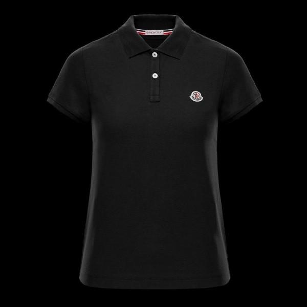 Moncler Polo Tişört Kadın Siyah