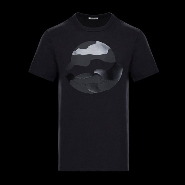 Moncler World Tişört Siyah Erkek